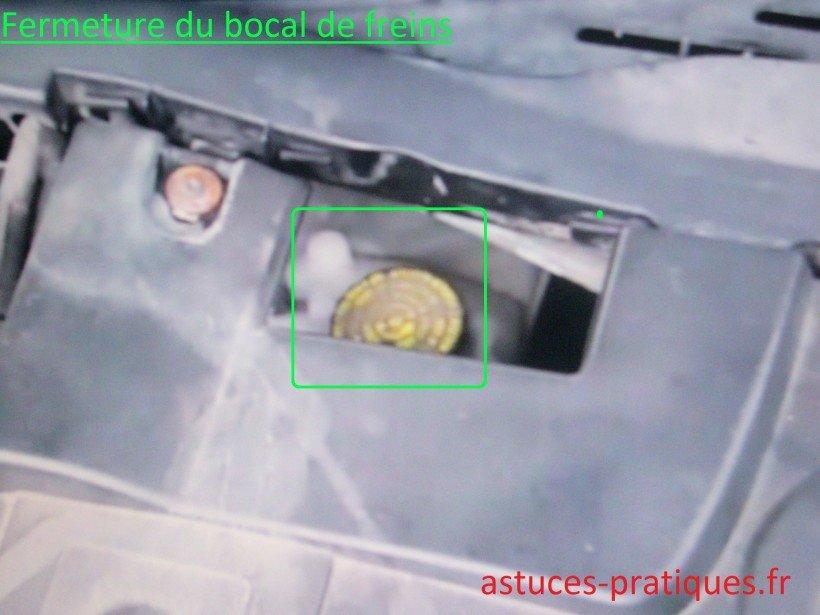 Fermeture du bocal de freins