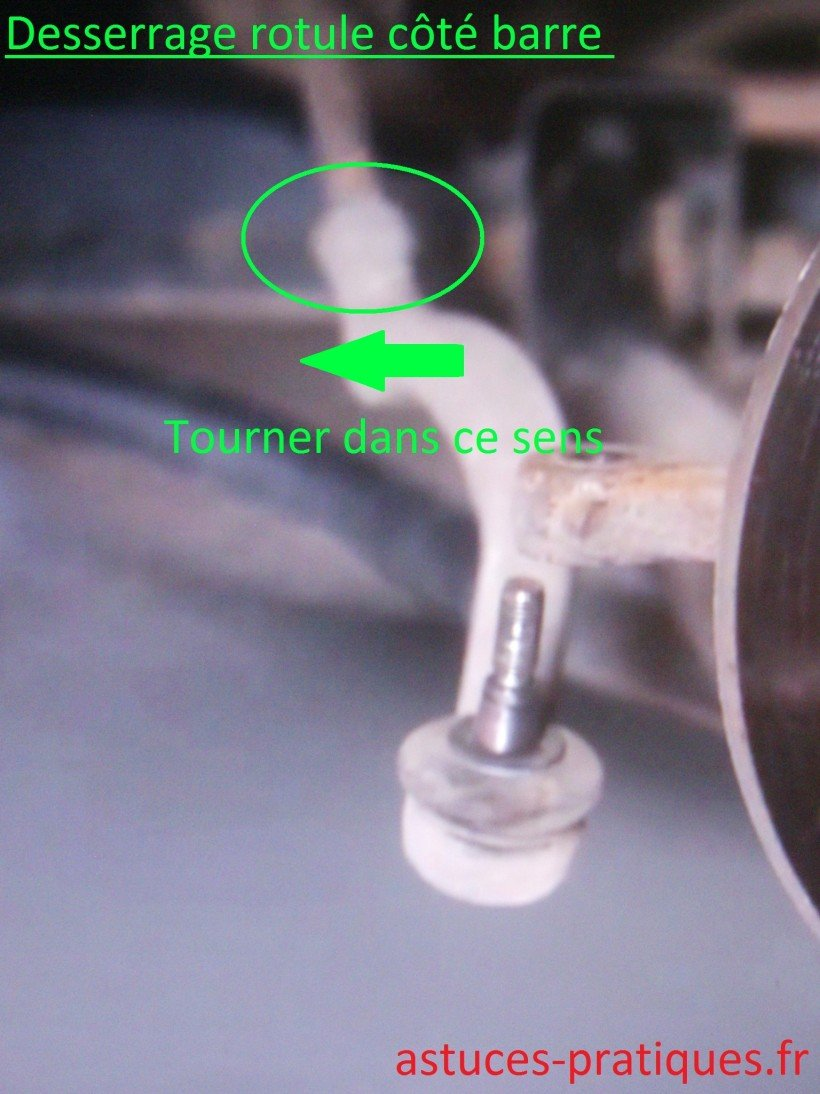 Desserrage rotule (côté barre)