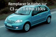 Remplacer turbo sur C3 1.6 hdi 110cv