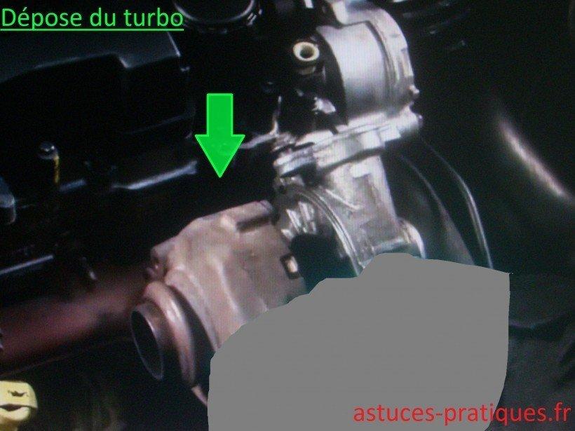 Dépose du turbo