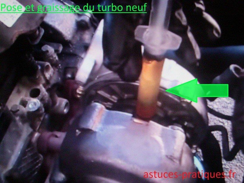 Pose / Graissage du turbo