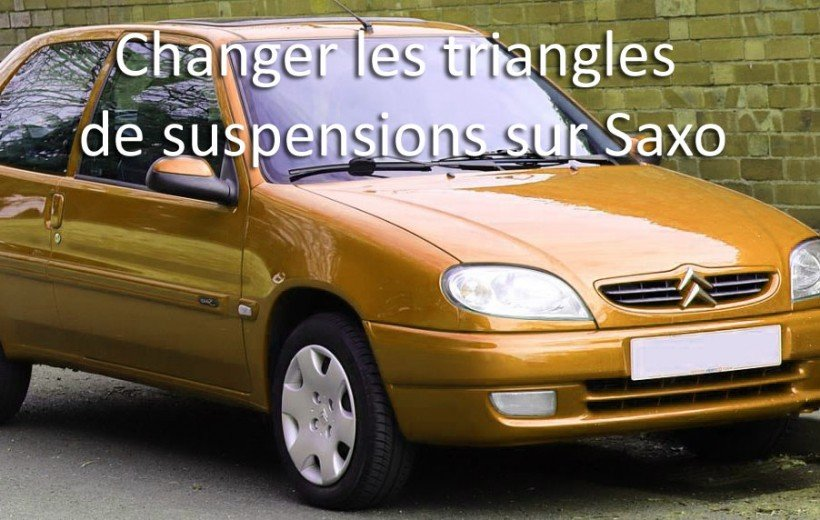 Remplacer un triangle de suspension sur Saxo