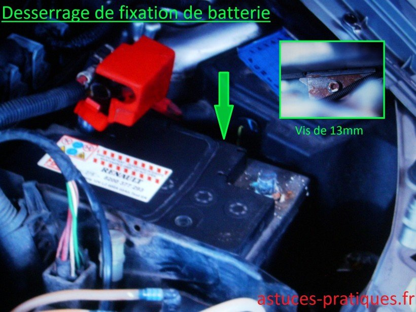 Fixation de batterie