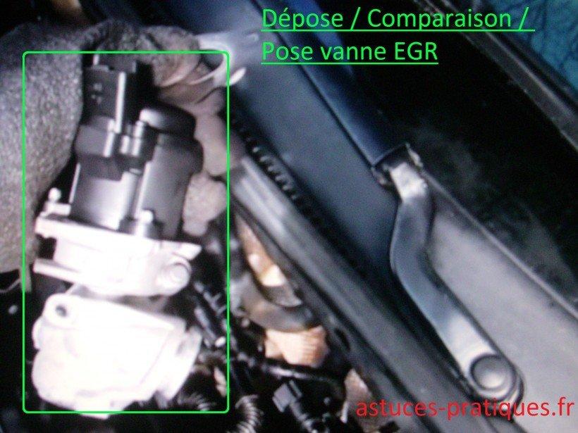 Comparaison / pose vanne EGR