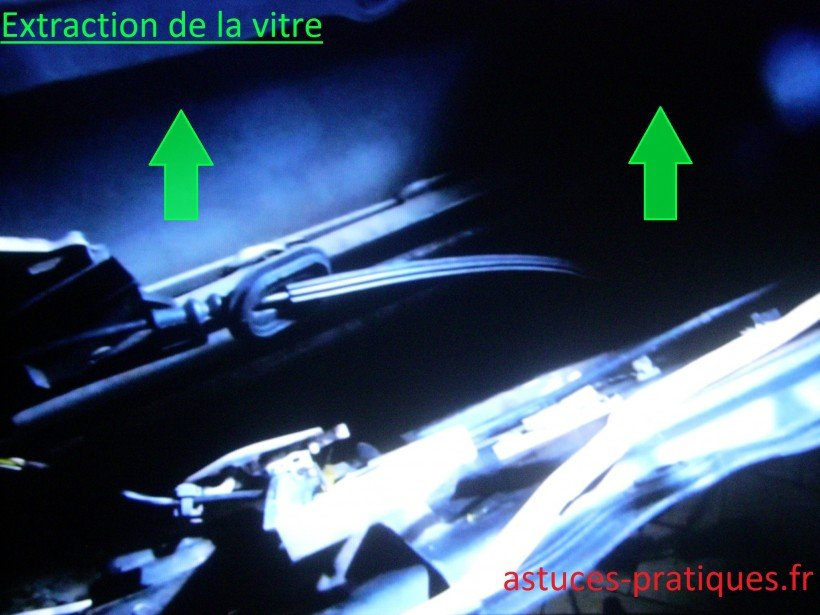 Extraction de la vitre