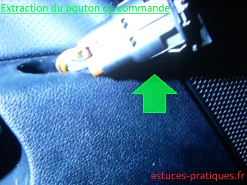 Extraction du bouton de commande