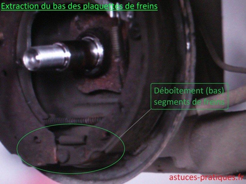 Segments de freins (partie basse)