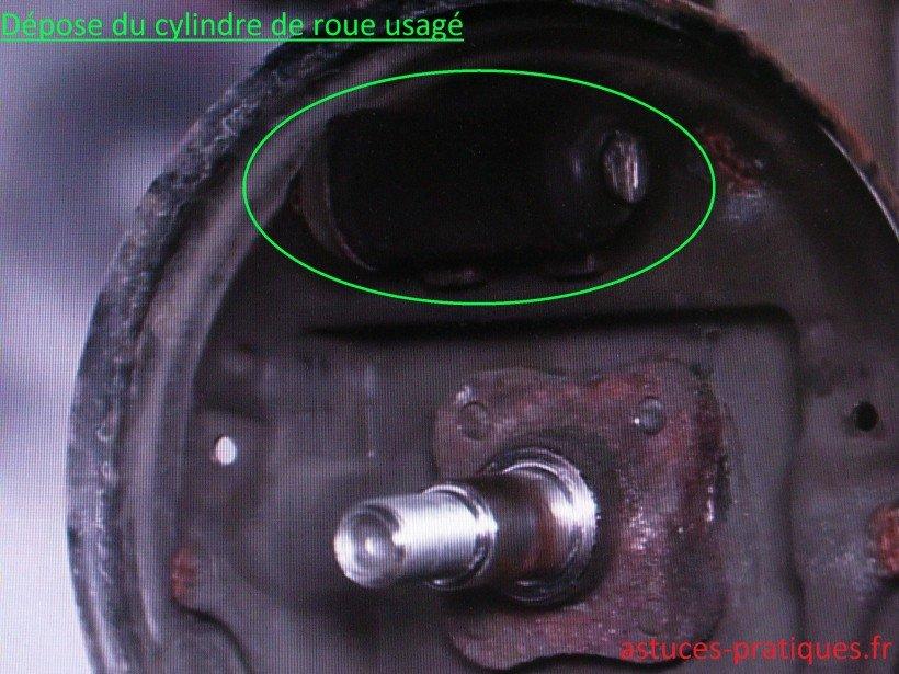 Cylindre de roue usagé