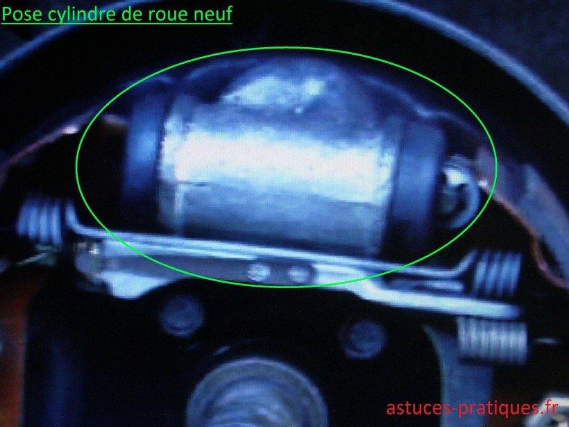 Pose du cylindre de roue