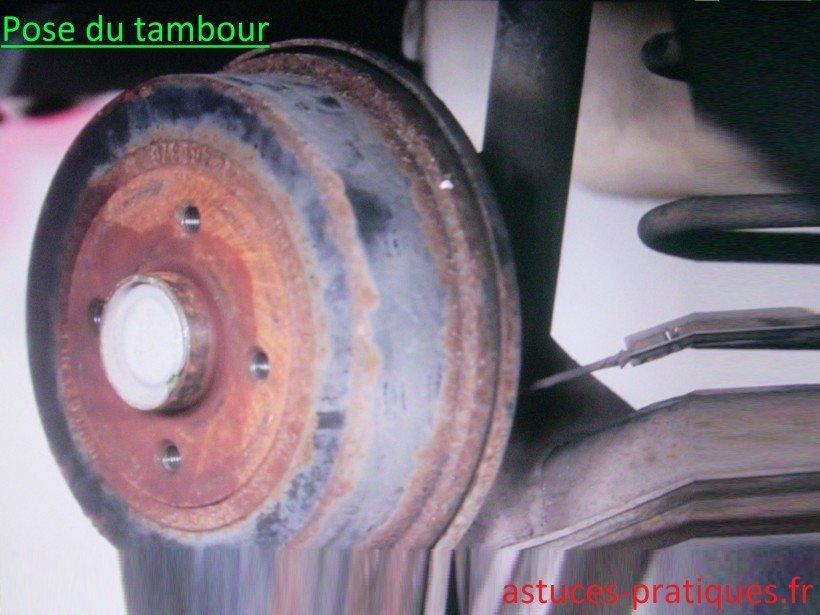 Pose du tambour