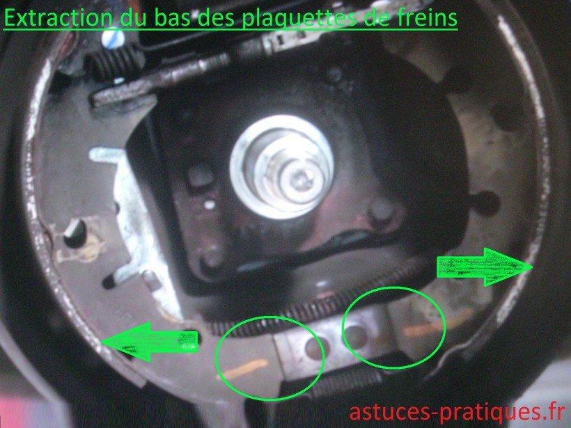 Extraction du bas des plaquettes de freins