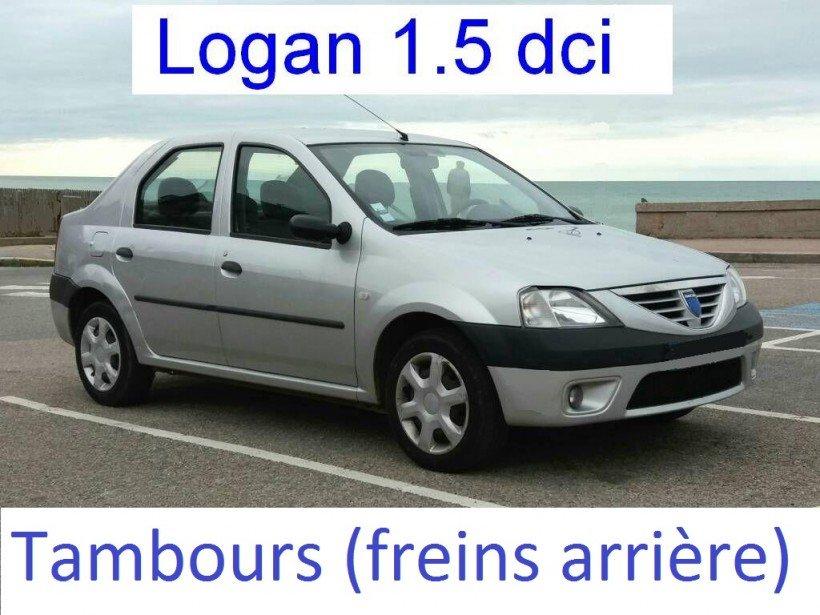 Tambours sur Logan (remplacement des garnitures de frein + ...