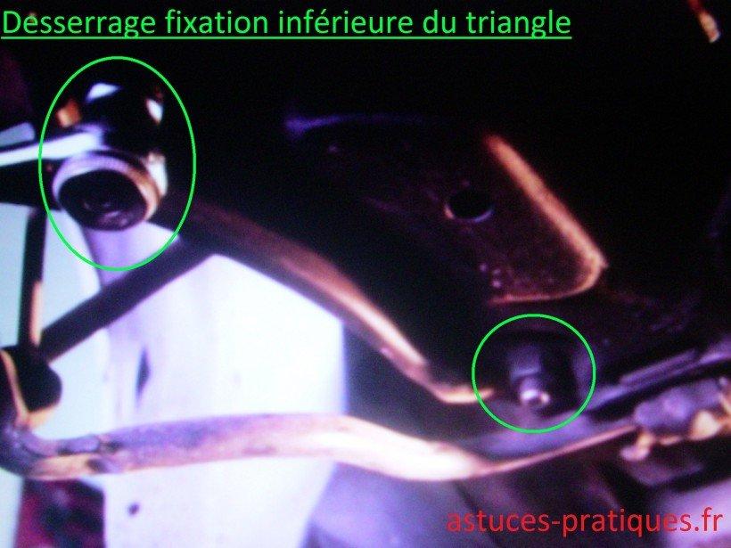 Fixation inférieure du triangle