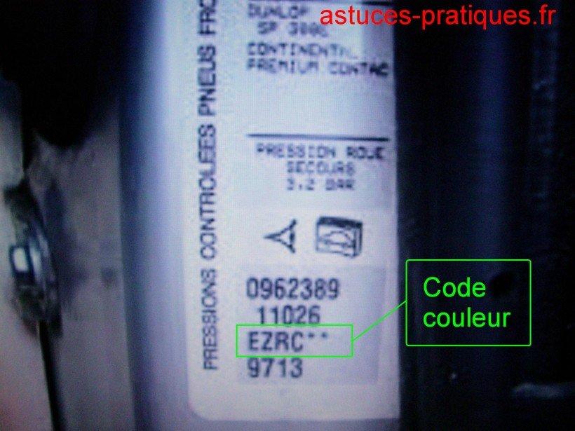 Ligne code couleur