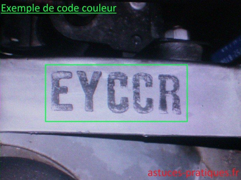 Exemple de code couleur