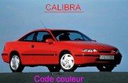 Trouver le code couleur sur Opel Calibra