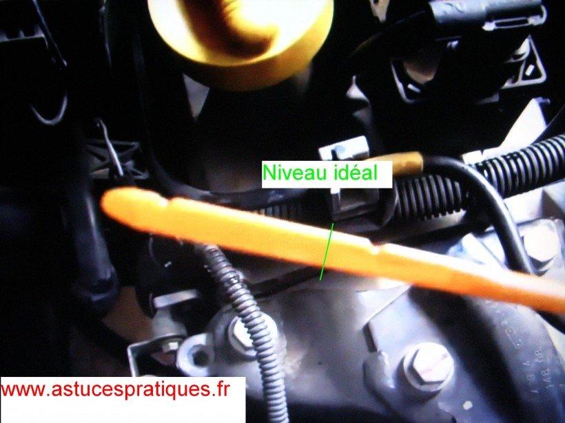 Niveau huile moteur