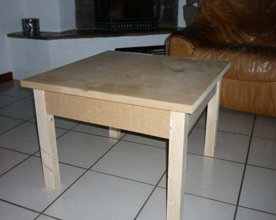 Charmant Fabriquer Une Table Basse En Bois