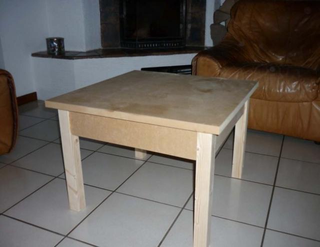 fabriquer une table basse en bois 14