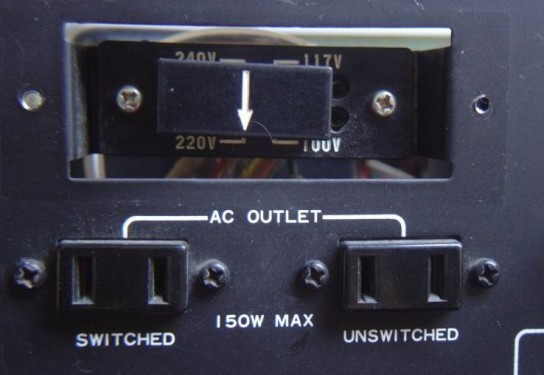 alimentation d ampli hifi commutateur 220v ou 240v 1