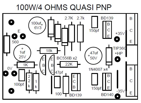ampli 100w realisation et schema 5