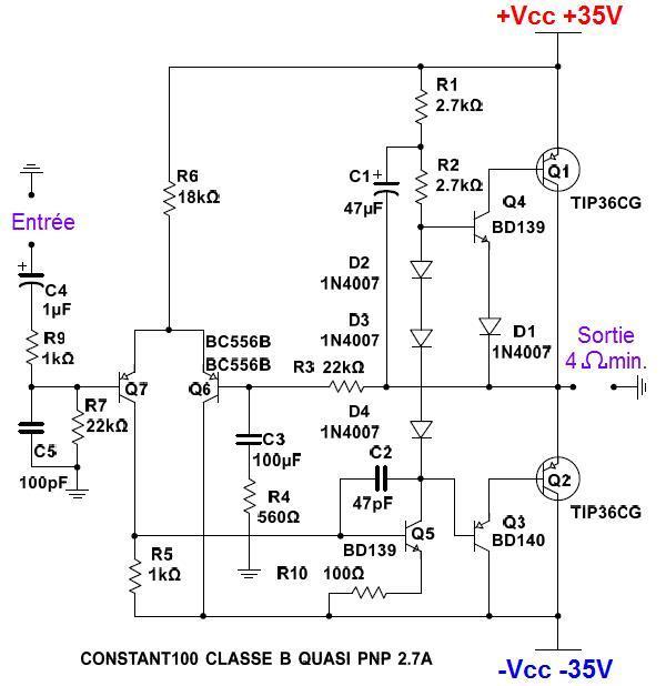 ampli 100w realisation et schema 0