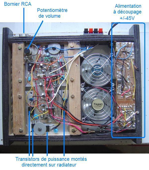 ampli 2 x 400w schema et realisation 1
