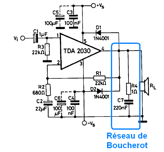 ampli audio stabilite et oscillations 8