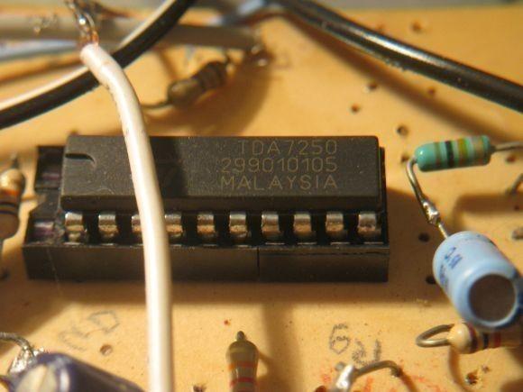 ampli sono a tda7250 2 x 200w realisation 4
