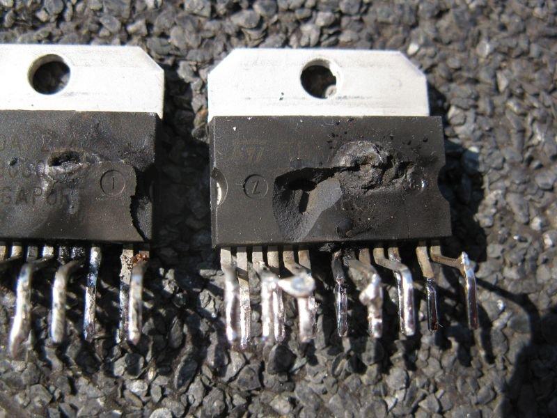 ampli TDA7294 panne court circuit