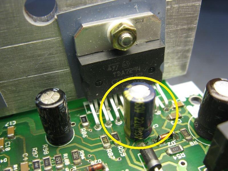 panne TDA7294 bootstrap condensateur