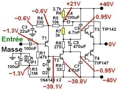 ampli ultra simple 50w a 200w schema 2