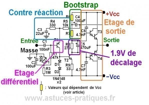 ampli ultra simple 50w a 200w schema 3