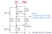 Bistable à deux transistors : schéma
