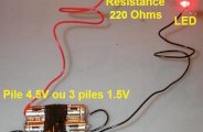 Brancher une LED sur une pile
