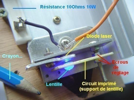 construction de laser bleu 1000mw 1w pas cher 13