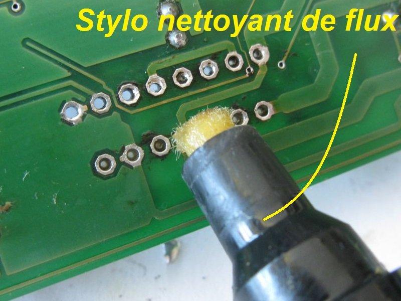 dessouder composant etain flux stylo