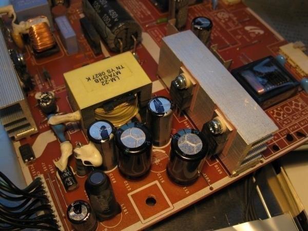 condensateur écran plat réparé