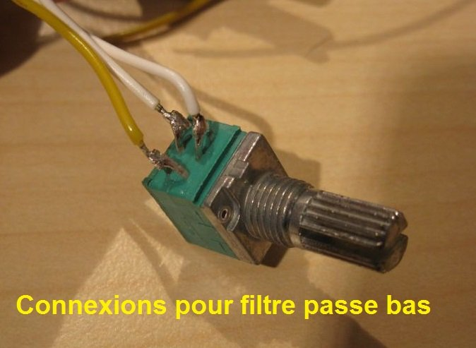 frequence filtre actif potentiometre