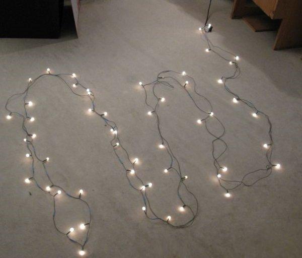 test guirlande ampoule filament
