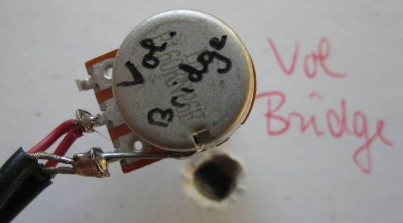 branchement potentiometre guitare