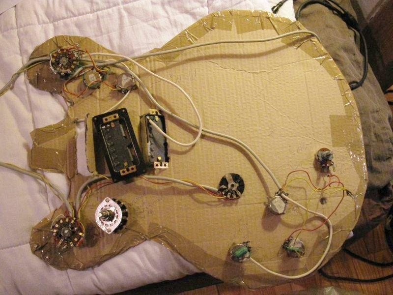 Guitare électrique stéréo : le câblage