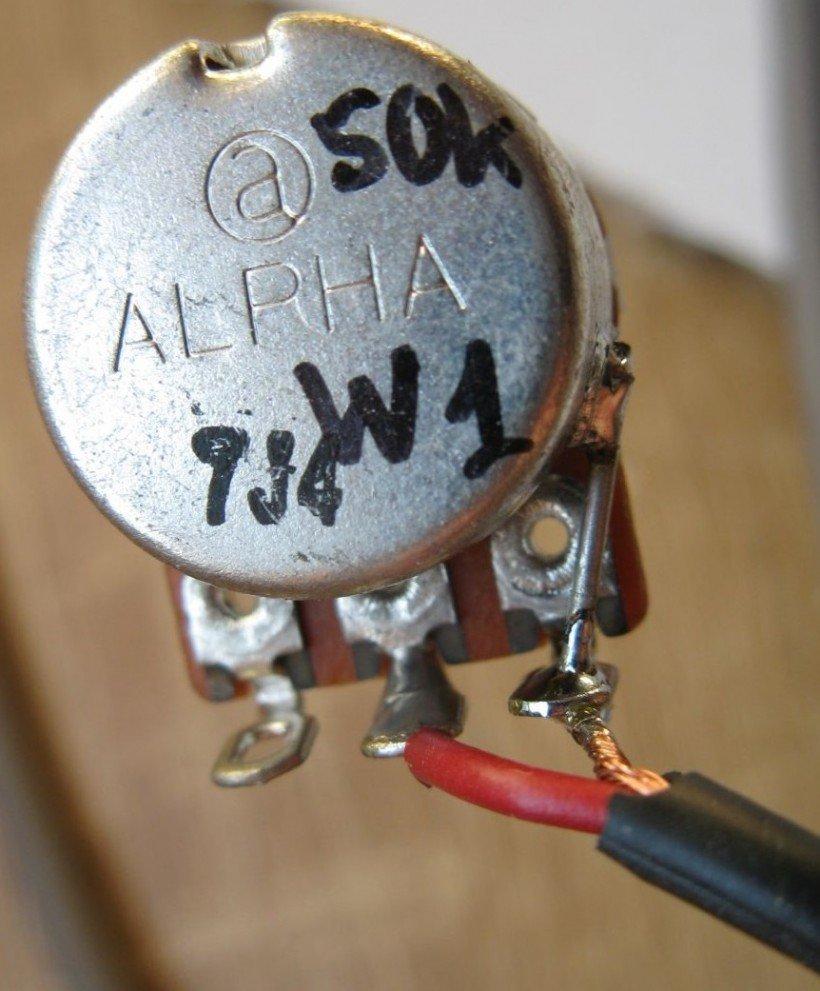 câbler potentiomètre guitare
