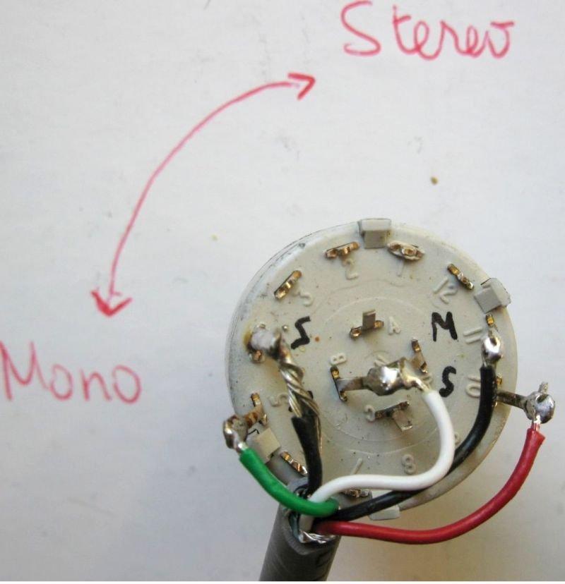 selecteur mono stereo guitare