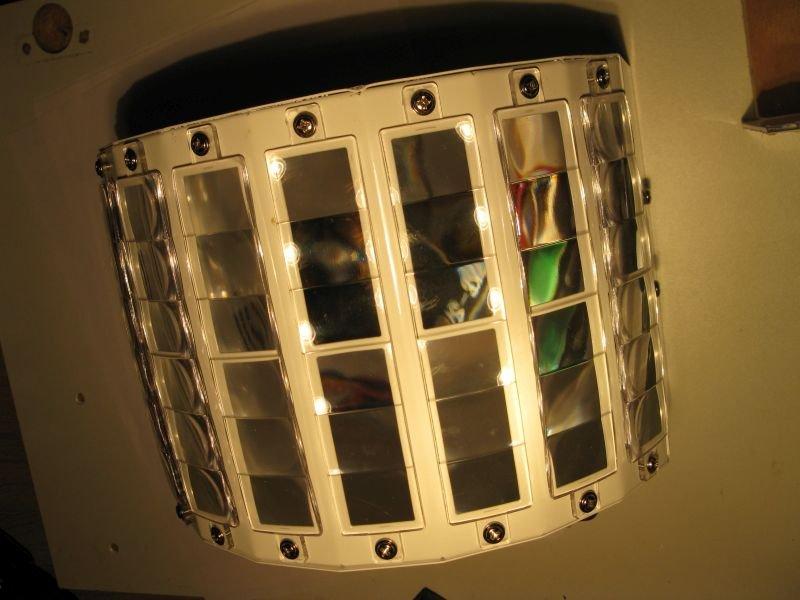derby stage light optique lentille focale