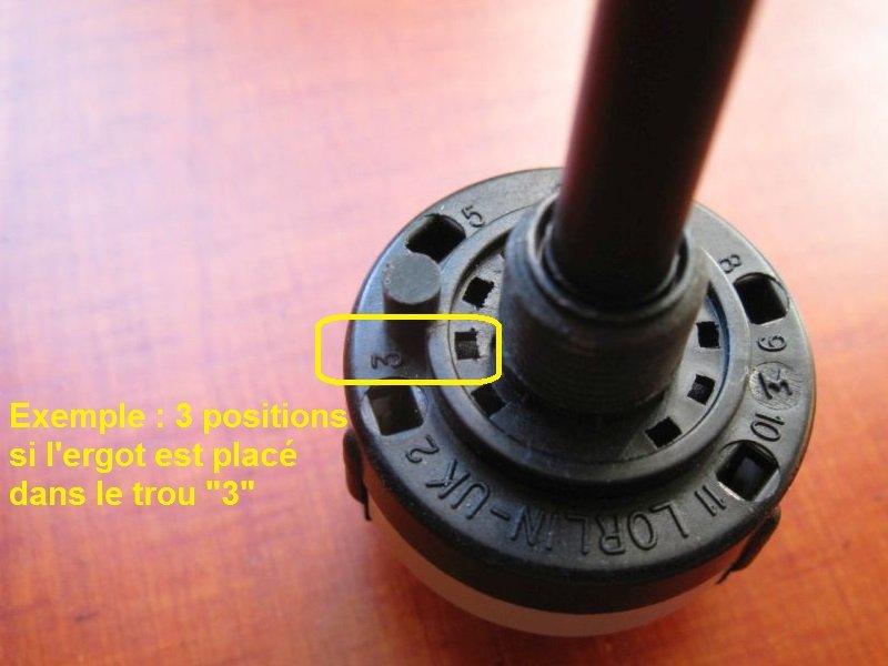 commutateur rotatif rotary switch