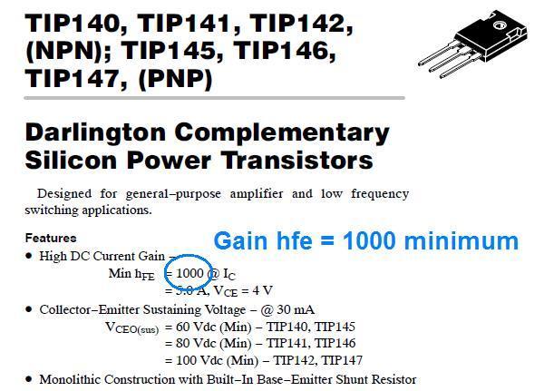le transistor darlington 6