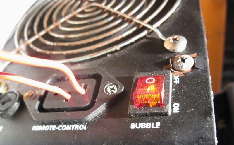 connexion télécommande machine bulles
