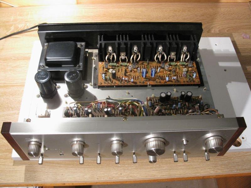 ampli pioneer 2SA7100 réparé