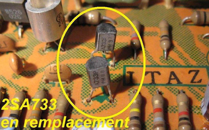transistor 2SA733 ampli pioneer SA7100